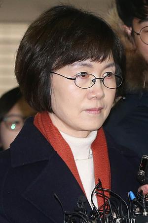 [뉴스핌 포토] '정유라 특혜' 최경희 전 이대총장 특검 출석