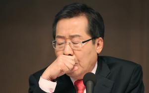 [뉴스핌 포토] 스트롱맨 홍준표, 패널 송곳질문에 난감