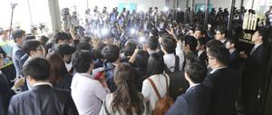 [뉴스핌 포토] 홍만표, 피의자 신분으로 검찰 출두