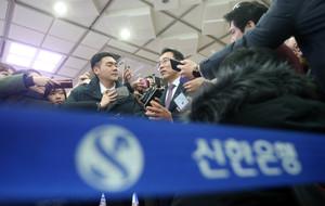 [뉴스핌 포토] 신한금융, 차기 회장 후보 조용병 행장 확정