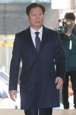[뉴스핌 포토] '돌아온 문고리' 안봉근, 특검 참고인 신분 출석