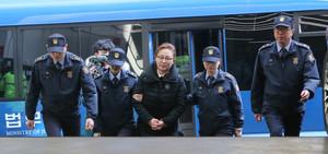 [뉴스핌 포토] '뇌물' 박채윤 와이제이콥스메디칼 대표, 특검 출석