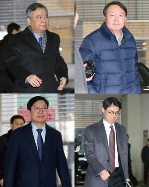 [뉴스핌 포토] 특검 수뇌부의 '마지막 출근길'