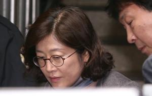 [뉴스핌 포토] '문화계 블랙리스트' 김소영 첫 공판준비기일 출석