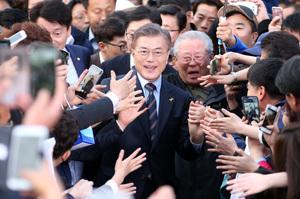 """[뉴스핌 포토] 인천 찾은 문재인 """"인천을 경제수도로"""""""
