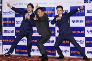 [뉴스핌 포토] '보안관' 이성민X조진웅X김성균, 믿보배 총출동...
