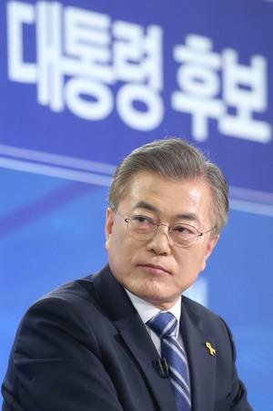 """[뉴스핌 포토] 문재인 """"핵잠수함 추진, 국민의당과 통합 열어놔"""""""