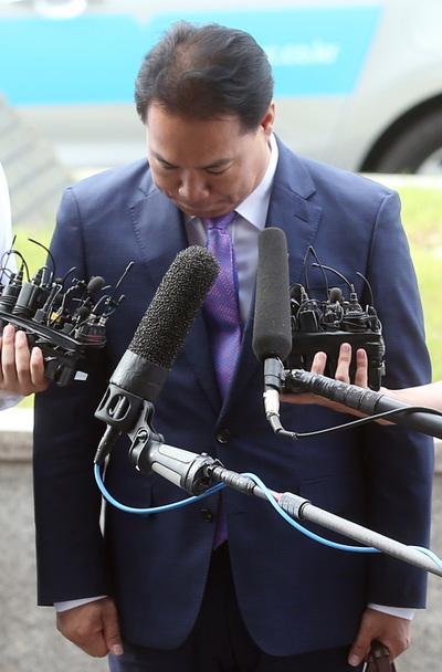 """[뉴스핌 포토] 고개 숙인 이용주 """"국민의당 제보조작 부실검증 사과"""""""
