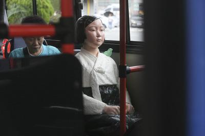 [뉴스핌 포토] '평화의 소녀상' 버스타고 서울도심 누빈다