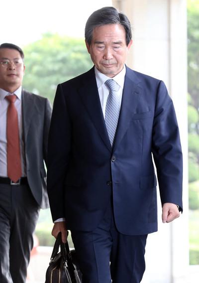 [뉴스핌 포토] KAI 경영비리 '몸통' 하성용, 피의자 신분 검찰 출석