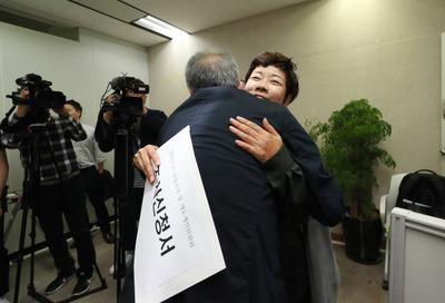 """[뉴스핌 포토] 'MB 블랙리스트' 황석영·김미화 """"진상 밝혀달라"""""""