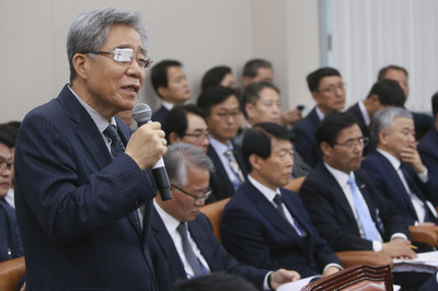 [뉴스핌 포토] '국정감사' 의원들의 질의 이어지는 함승희 강원랜드 사장
