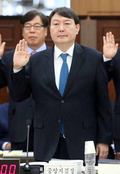 [뉴스핌 포토] 여야, 국감서 '적폐수사' 공방…윤석열 4년만 국감무대