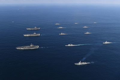 한·미·일, 북한 미사일 경보훈련…이지스함 4척 참가