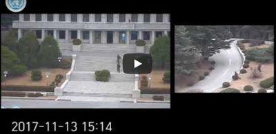 [영상] 북한군 병사가 판문점 MDL 월남하던 긴박한 순간