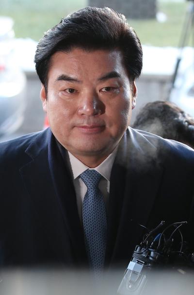[뉴스핌 포토] '정치자금법 위반' 혐의 원유철 의원 피의자 소환