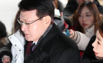 [뉴스핌 포토] '부당노동행위' 안광한 전 MBC 사장 피의자 소환