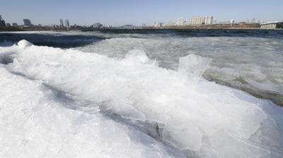 [뉴스핌 포토] 최강 한파에 얼어 붙은 한강, '전국 꽁꽁'