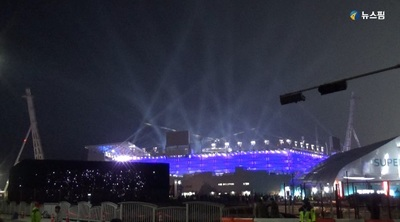 [영상] 잠 못이루는 밤거리...평창올림픽 개막 열기 후끈