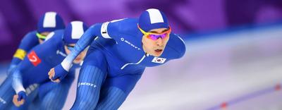 [뉴스핌 포토] 빙속 남자 팀추월, 여유있는 1위...뉴질랜드와 준결승