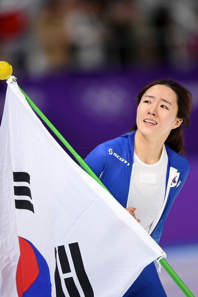 [뉴스핌 포토] '최고의 스케이터' 이상화 500m 은메달...아름다운 마무리