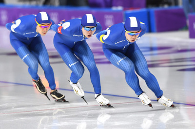 [뉴스핌 포토] '첫 금메달 도전' 男 팀추월, 노르웨이와 결승서 격돌