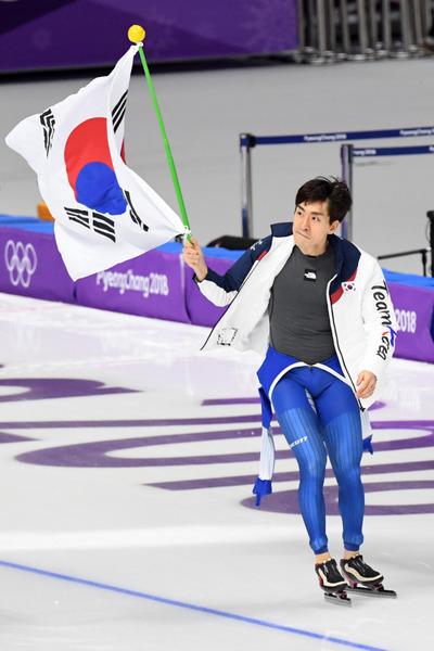 [뉴스핌 포토] 남자 팀추월, 2연속 은메달...이승훈 3회 연속 올림픽 메달