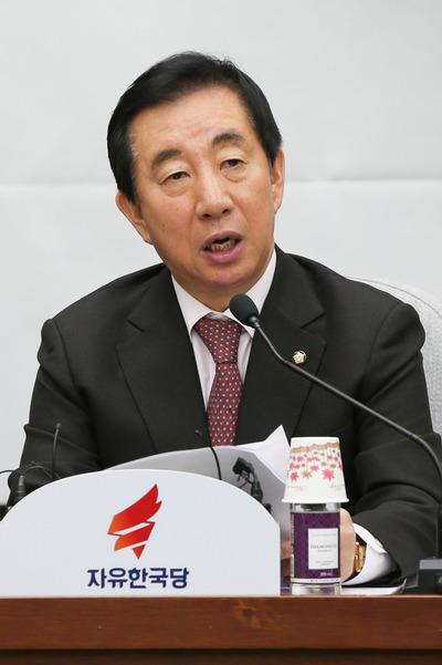 """[뉴스핌 포토] 한국당 """"책임총리제로 분권형 대통령제 실현하겠다"""""""