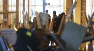 [뉴스핌 포토] 총신대 임시휴업..학생-용역 직원들 '일촉즉발'