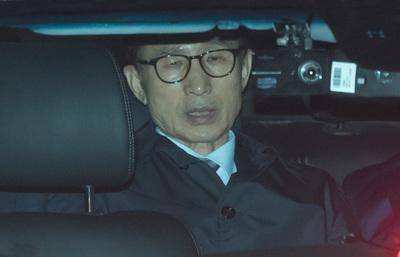 """[뉴스핌 포토] 구치소 가는 이명박..""""참담한 심정"""""""