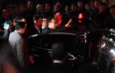 [뉴스핌 포토] 이명박 전 대통령의 '마지막 인사'