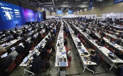 [사진] 남북정상회담 MPC...내외신 기자 '바글바글'