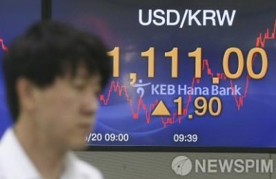 [사진] 상승세 이어가는 원·달러 환율...  '1,110원 돌파'
