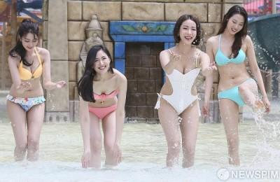 [사진] 미스코리아 이윤지-박채원-서예진-김계령, 섹시한 물놀이!