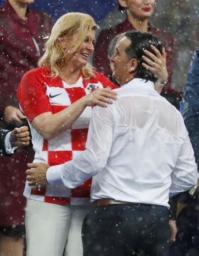 [사진] 크로아티아 대통령~ '최선을 다한 그대들은 아름다웠습니다.'