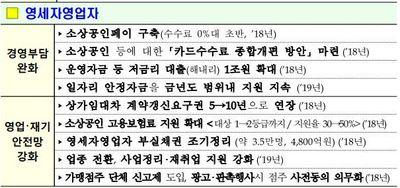 정부 영세자영업자 보호·육성책 발표, 내달 추가 지원책 예고