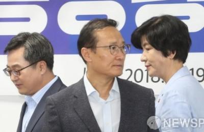 [사진] 고용상황 당정청회의 참석한 홍영표-김동연-김영주