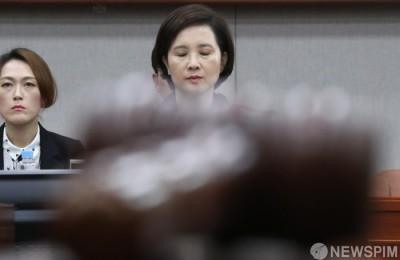 [사진] 검증 받는 유은혜 후보자