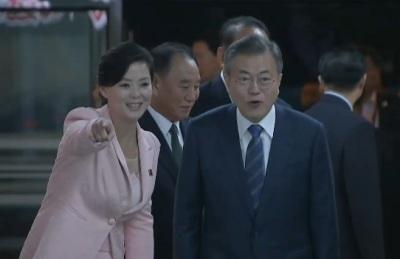 [영상] '대동강 수산물 식당' 김정은 깜짝 방문에...평양 시민들 환호