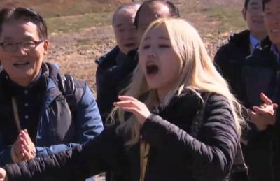 [영상] 백두산 천지에 울려퍼진 알리의 진도아리랑