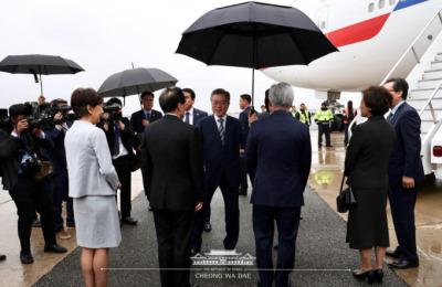 [사진] 美 뉴욕 도착  문재인 대통령