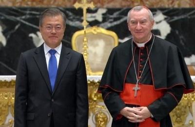 [영상] 文 대통령, 교황청 '한반도 평화 위한 특별 미사' 참석