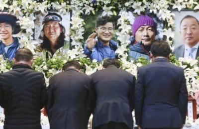 [영상] 히말라야 원정대 5인, 오늘 합동 영결식 거행