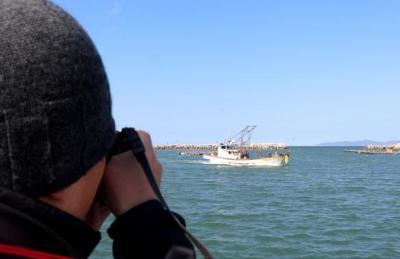 [영상] 백령도에서 바라본 북한 장산곶