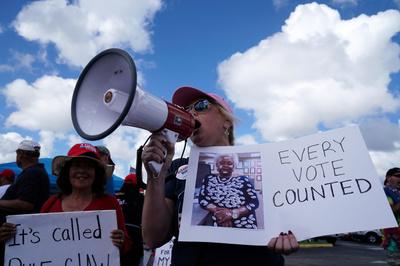 [사진]플로리다 재검표에 항의하는 공화당 지지자들