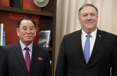 [사진] 워싱턴에서 만난 김영철과 폼페이오