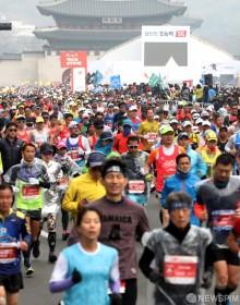 [사진] 서울국제마라톤대회, '힘찬 출발!'