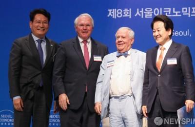 [사진] 송영길-크리스토퍼 힐-짐 로저스-정동영