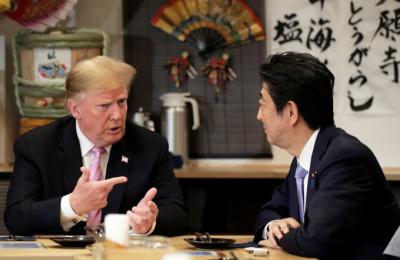 """[미일정상회담] 트럼프, 아베에 한국에 대한 '곤혹감' 전달...""""남북대화 진전 없다"""""""