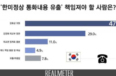 [여론조사] 한·미정상 통화 유출 책임, 강효상 47.3% vs 강경화 29%
